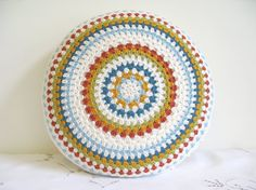 crochet granny, color schemes, circl, floor pillows, cushion covers, color patterns, crochet granni, color combinations, crochet cushions