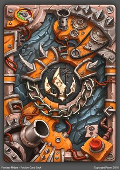 Fantasy Riders - Faction Card Back, Thomas Karlsson Game Design, Book Design, Hearth Stone, Character Art, Character Design, Card Ui, Elemental Powers, Engraving Illustration, Magic Book