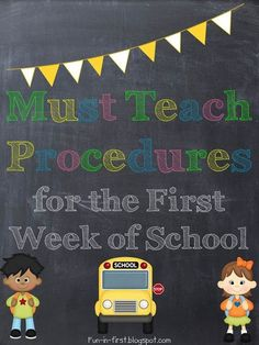 This website has a helpful list of must-have procedures to go over with students on the first few days of school. The list is thorough and it's important to teach these procedures for an efficient classroom. First week of school First Grade Classroom, Kindergarten Classroom, School Classroom, Classroom Ideas, Classroom Routines, Future Classroom, Classroom Organization, Classroom Design, Google Classroom