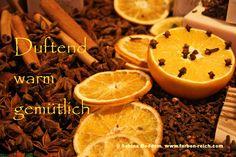 und #sinnlich, das ist für mich die #Adventszeit. #warmeFarben www.farben-reich.com