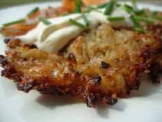 Sellerirotrøsti Lchf, Sour Cream, Low Carb Recipes, Sugar Free, Paleo, Chicken, Meat, Vegetables, Ethnic Recipes