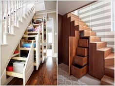 Claim The Unused Space Under The Stairs for a Concealed Storage