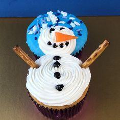 Cute snowman cupcake