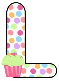 Abecedario con Lunares de Colores y Cupcakes. Alphabet with Colored Polka Dots and Cupcakes. Abc For Kids, Crafts For Kids, Scrapbook Letters, Letter I, Letter Board, Letter Balloons, Love You More Than, Letters And Numbers, Peace And Love