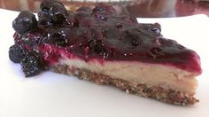 Vegan Cheesecake with Blueberry Topping - Mostly R...