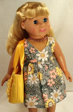 American Girl/ 18 Inch Doll Clothing - Little Spring Dress
