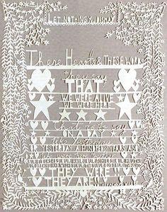 Rob Ryan papercut for April 2009 UK Elle magazine