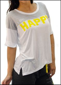 Megan's Lifestyle Boutique - I am Happy Crew Neck Tee