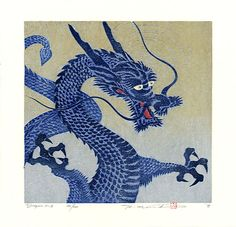 Pictures of chines drangons | 10 Spectacular Woodblock Prints of Dragons | Cartridge Save Blog