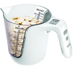 A measuring cup that is also a scale. Brilliant.