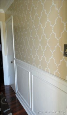 Under The Table and Dreaming: Creative Ideas & Projects - Sunday Showcase Party Features  Stencil on wall