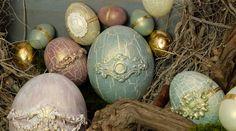 LaBlanche :: Dekorative Eier mit Krakelierpaste und Farbe