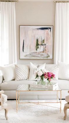 Transition french glam modern home tour. Affordable and family friendly pieces and decor. Southern spring home decor. Glam Living Room, Formal Living Rooms, Rugs In Living Room, Home And Living, Living Room Designs, Living Room Decor, Dining Room, Dining Table, White Living Rooms