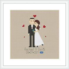 Cross Stitch Pattern Custom wedding Bridesmaids' gift