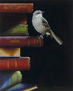 Literary Roost To Kill A Mockingbird Oil Painting By Camille Engel
