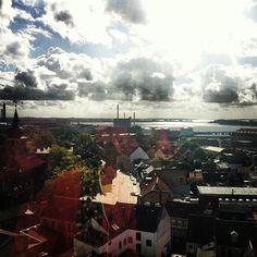 Se byen fra oven #nykøbingf  #instadenmark #instamood