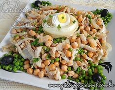 Receita de Salada de Grão de Bico