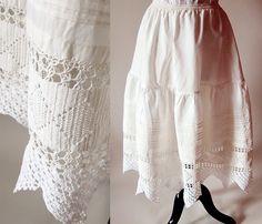 Victorian petticoat / antique lingerie / lace by CTMercantile, $85.00