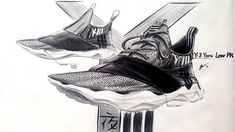 Amazing Y-3 concept sketch by @jacoblippolddesign | Beautiful silhouette and use of materials