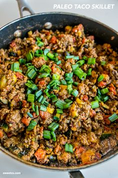 This one pot paleo taco skillet is so delicious!