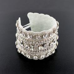 Crystal Applique Cuff Bracelet
