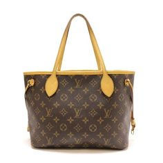 Louis Vuitton Neverfull PM Monogram Handle bags Brown Canvas M40155