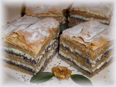 Gibanica, a balkán rétes Tiramisu, Sweets, Cookies, Baking, Cake, Ethnic Recipes, Foods, Candy, Sweet Pastries