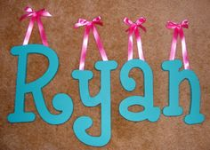 "8"" Personalized wooden wall letters baby nursery wood ($15 for 2)"