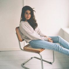 Bruna an employee in Amsterdam pairs her Easy Jean with the Fisherman's Pullover. #AmericanApparel