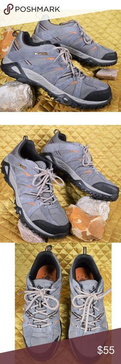 """COLUMBIA Omni-Grip Trail Hiking Shoes Men's Sz 11 Men's Gray Suede Columbia hiking shoes. These are new without box as they were a """"doesn't fit"""" store return!   **If you appreciate old school quality - you're in the right place. We don't just sell products, we put time & work into them. PLUS. we ship FAST! Usually within 1 business day! Thank you for poshing in my closet!! 😘🤟🌹 Columbia Shoes Athletic Shoes"""