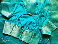 You are in the right place about plain blouse designs Here we offer you the most beautiful pictures New Saree Blouse Designs, Blouse Designs Catalogue, Simple Blouse Designs, Stylish Blouse Design, Designer Blouse Patterns, Ppr, Handloom Saree, Printed Blouse, Boat Neck