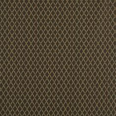 A0070B Brown Stitched Diamonds Upholstery Jacquard (By The Yard) (By The Yard)