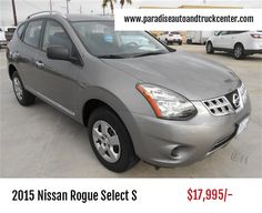 2015 Nissan Rogue Select S  Engine: 2.5L I4 170hp 175ft. lbs.  Mileage: 18,946  For more information, Visit: http://www.paradiseautoandtruckcenter.com/vehicle-details/2015-nissan-rogue-select-s-wagon-1b689b9fadd2af4498bc6b75e28e69d0/  #NissanRogue #Nissan #Rouge #NissanRogueSelectS #NissanRogue2015 #Sedan #Cars #LuxuryCars #ParadiseAutoAndTruckCenter #ShopOnline #BestPrice