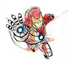 Iron man middle of arrow his hand