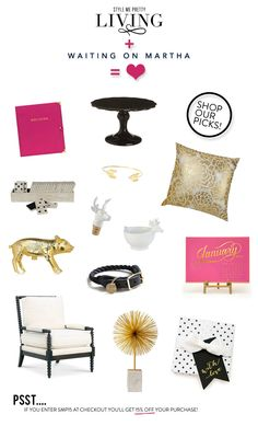 win $200 to shop at Waiting on Martha!  Read more - http://www.stylemepretty.com/living/2013/12/05/waiting-on-martha-shop-a-discount/