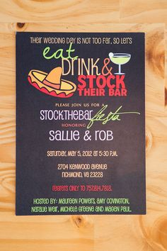 Stock the Bar Party Invitation  Wedding Shower by BonBini on Etsy