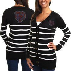 Cuce Chicago Bears Ladies The Quarterback Sweater - Black/White