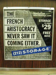 Manhattan Mini Storage Subway Ad Reaches Zenith of Psychosis: The Guillotine Edition