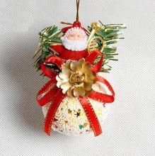 3 sztuk cute Santa z śnieżki Świąteczne ozdoby choinkowe Św Mikołaja nowy rok Ozdoby Wiszące zabawki jako prezenty navidad(China (Mainland))