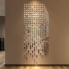 Cube 3d перспективный вид зеркало акриловые стикеры стены гостиной спальня диван ТВ оформление фона стены комнаты
