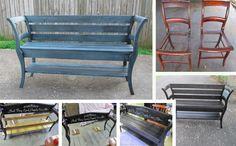 Máte dve staré stoličky a rozmýšlate, že by ste ich vyhodili? Vyrobte si z nich krásnu lavičku. Skvelý spôsob ako sa zbaviť nepotrebných stoličiek. Aj toto je dôkazom toho, že stačí byť trochu kreatívny a môžete byť inšpiráciou pre ostatných.