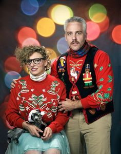 @Christina S. Ugly Christmas Sweater Party!  This can be my party invite pic. hahaha and we can add a white elephant in there somewhere.