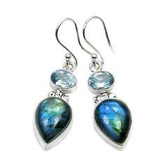 Beautiful Labradorite Blue Topaz & Sterling by TheSilverPlaza