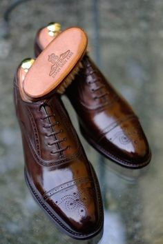 Leather Brogues, Brown Leather Boots, Leather Shoes, Men's Leather, Sock Shoes, Shoe Boots, Gents Shoes, Shoes Men, Gentleman Shoes