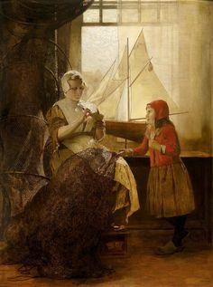 Eduard Charlemont  Dutch Fisherwoman with Child