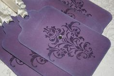 Viotet Velvet Damask Tags these tags are so lovely. Made by AnistaDesigns.