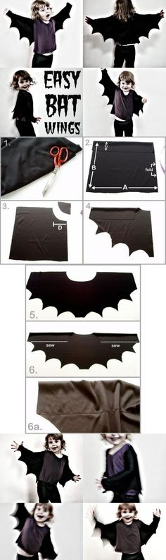 Make Bat wings the easy way. Only minimal sewing required - mypoppet.com.au