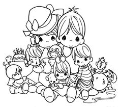 Precious Moments Animals Coloring Pages | Free Printable Precious Moments Coloring Pages For Kids