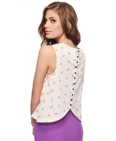 Button back bow top.... Wow want!