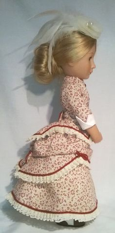 A Girl for all time hand made bustle dress complete with undergarments Bustle Skirt, Types Of Braids, Beautiful Costumes, New Dolls, Historical Clothing, Girl Dolls, Dress Patterns, American Girl, Pixie